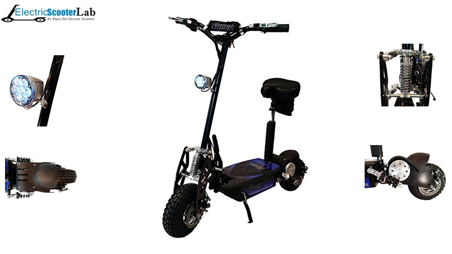 Black Super Turbo 1000watt Elite 36v Electric Scooter Reviews